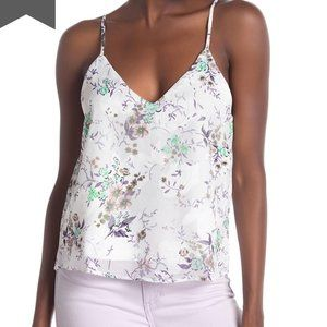 4/$25 CHANCE Floral Print Cami V-Neck Lined